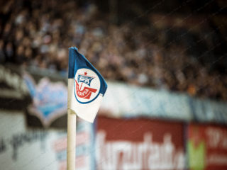 3.Liga – 17/18 – FC Hansa Rostock vs. Fortuna Koeln – Eckfahne