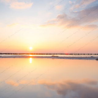 2018-01-14 Sonnenuntergang am Strand in Dierhagen